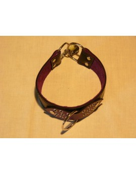 PURPLE & BLACK COLLAR WITH LOCK