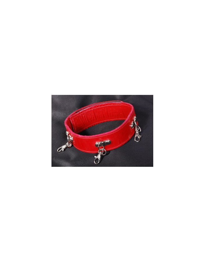 "3"" wide red bridle collar"