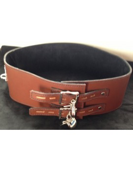 4in LEATHER BONDAGE BELT