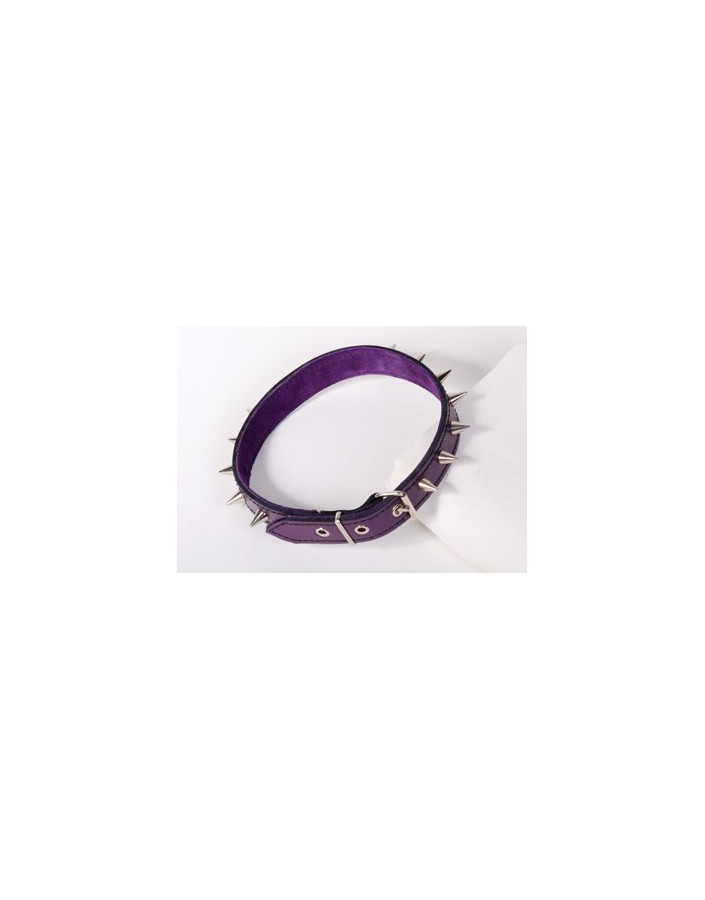 "2"" Purple shoulder leather collar"