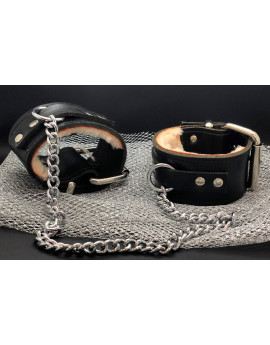 Buffalo leather leg cuffs...